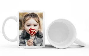 Taza de cerámica con fotos, personajes, etc.