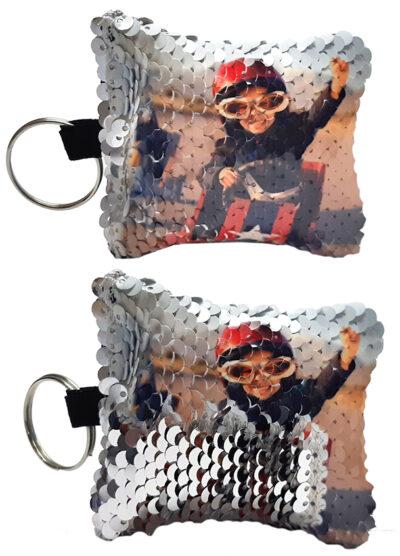 Llavero lentjuela personalizado con fotos