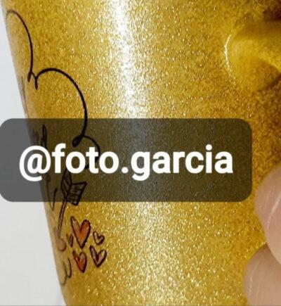 Taza glitter personalizado